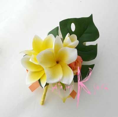 画像5: 造花オーダーメイドブーケ キャスケード・ブトニア・リストレット・ヘッドパーツ(アンスリウム&Yプルメリア)