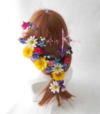 画像3: 造花オーダーメイド ハートブーケ・ブトニア・ヘッドパーツ(ガーベラmix)
