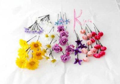 画像4: 造花オーダーメイド ハートブーケ・ブトニア・ヘッドパーツ(ガーベラmix)