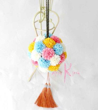 画像3: 造花オーダーメイドブーケ 和装ボールブーケ(マムwpyb4)