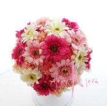 他の写真3: 造花ピンク&ピンク ガーベラ・マムラウンドブーケ・ブトニア・ヘッドパーツセット