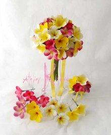 他の写真2: 造花オーダーメイドブーケ  クラッチ22・ブトニア・ヘッドパーツ(プルメリア7Mix)