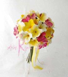 他の写真1: 造花オーダーメイドブーケ  クラッチ22・ブトニア・ヘッドパーツ(プルメリア7Mix)