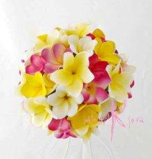 他の写真3: 造花オーダーメイドブーケ  クラッチ22・ブトニア・ヘッドパーツ(プルメリア7Mix)