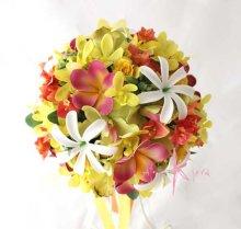 他の写真2: 造花オーダーメイドブーケ クラッチ23・ブトニア・ヘッドピース(ティアレ&プルメリア&オーキッド)