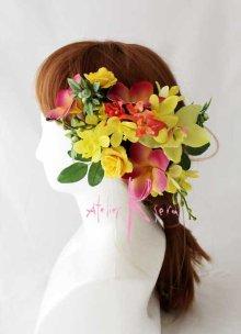他の写真3: 造花オーダーメイドブーケ クラッチ23・ブトニア・ヘッドピース(ティアレ&プルメリア&オーキッド)