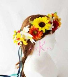 他の写真3: 造花オーダーメイドブーケ クラッチ・ブトニア・花冠(ヒマワリ&ガーベラ&プルメリア)