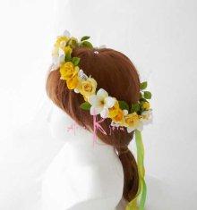 他の写真3: 造花オーダーメイドブーケ クラッチ・ブトニア・花冠(イエローローズ&プルメリア)