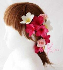 他の写真2: 造花オーダーメイドブーケ キャスケード・ブトニア・ヘッドパーツ(プルメリア&プルメリア)