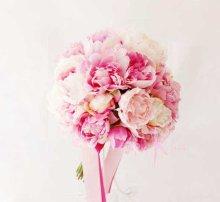 他の写真1: 造花オーダーメイドブーケ  25クラッチ・ブトニア・ハクレイ(花冠)&ヘッドピース(P&Wピオニー)