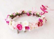 他の写真2: 造花オーダーメイドブーケ  25クラッチ・ブトニア・ハクレイ(花冠)&ヘッドピース(P&Wピオニー)