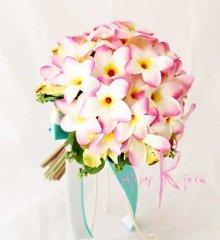 他の写真3: 造花ピンクプルメリア♪ ラウンドブーケ・ブトニア・ヘッドパーツセット