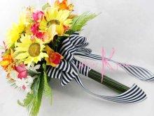 他の写真2: 造花オーダーメイド クラッチブーケ・ブトニア・ヘッドピース   (ヒマワリ&トロピカルミックス)