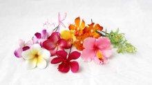 他の写真3: 造花オーダーメイド クラッチブーケ・ブトニア・ヘッドピース   (ヒマワリ&トロピカルミックス)