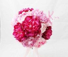 他の写真3: 造花オーダーメイドブーケ  25クラッチ・ブトニア・ハクレイ(花冠)(P&BPピオニー)