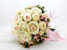 他の写真1: 造花オーダーメイド クラッチブーケ24・ブトニア(アンティークローズ&ブバリア