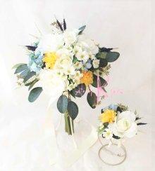 他の写真1: 造花オーダーメイドブーケ  クラッチブーケ・ブトニア(ナチュラルミックス)