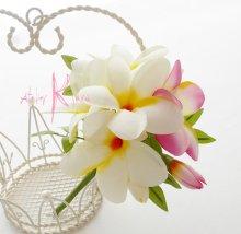 他の写真2: 造花プルメリア ラウンドブーケ・ブトニア・ヘッドパーツセット