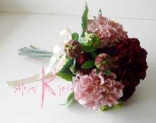 他の写真1: 造花ワインとモーブダリア クラッチブーケ・ブトニア・ヘッドパーツセット
