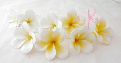 画像1: プルメリア ヘッドパーツセット ホワイト&クリーム