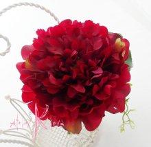 他の写真2: 造花オーダーメードキャスケードブーケ(レッドピオニー&カラー)