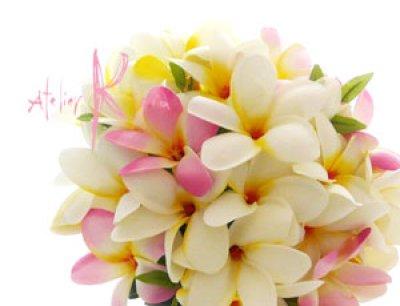 画像3: 造花プルメリア ラウンドブーケ・ブトニア・ヘッドパーツセット