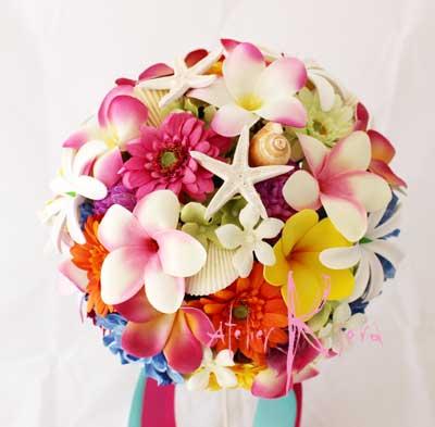 造花オーダーメイドブーケ スターフィッシュ&シェルをお入れして♪