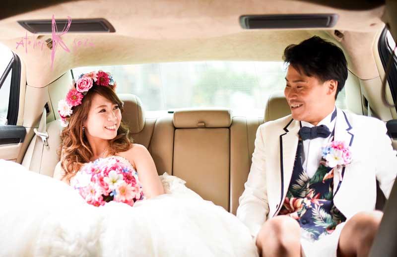 可愛い花嫁さまからHAPPY MAILが届きました♪