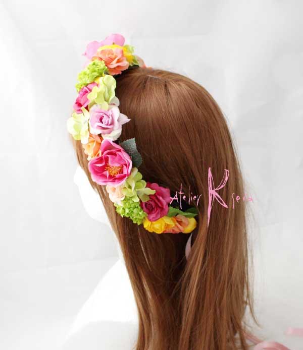 カチューシャタイプの花飾り♪ご紹介です♪